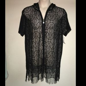 Catherines Bungalow Swim Cover Up 0X 14/16 NWT